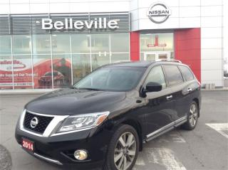 Used 2014 Nissan Pathfinder Platinum with NAVIGATION for sale in Belleville, ON