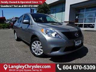 Used 2012 Nissan Versa 1.8 SL w/LOW KMS & MANUAL TRANSMISSION for sale in Surrey, BC