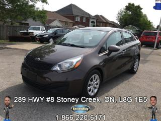 Used 2015 Kia Rio EX...FUEL ECONOMY WITH LOW PAYMENTS!!! for sale in Stoney Creek, ON