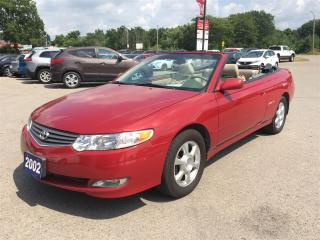 Used 2002 Toyota Camry Solara SLE V6! LEATHER SEATS! for sale in Aylmer, ON