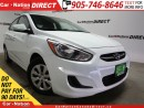 Used 2016 Hyundai Accent GL| WE WANT YOUR TRADE| OPEN SUNDAYS| for sale in Burlington, ON