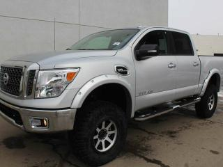 New 2017 Nissan Titan 6 INCH LIFT, FENDER FLARES, AFTERMARKET TIRES AND RIMS, RUNNING BOARDS, EXTRA LEAF SPRING, CREW CAB, 4X4, BACKUP CAMERA! for sale in Edmonton, AB