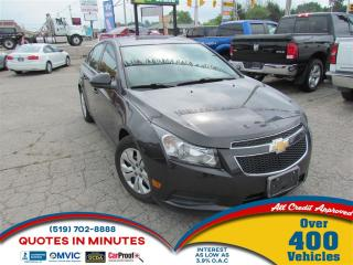 Used 2014 Chevrolet Cruze 1LT | TURBO | BLUETOOTH | SAT RADIO for sale in London, ON