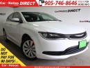 Used 2016 Chrysler 200 LX| LOW KM'S| PUSH START| OPEN SUNDAYS| for sale in Burlington, ON