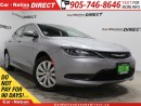 Used 2016 Chrysler 200 LX| LOW KM'S| PUSH START| GREAT ON GAS| for sale in Burlington, ON