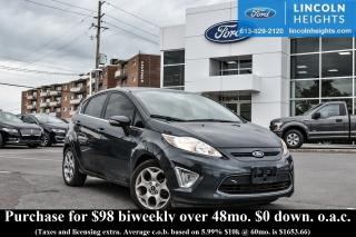 Used 2011 Ford Fiesta SES HATCHBACK - LEATHER - BLUETOOTH - POWER MOONROOF - HEATED FRONT SEATS for sale in Ottawa, ON