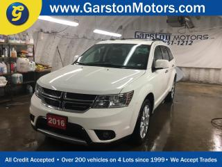 Used 2016 Dodge Journey R/T*AWD*7 Passenger*Leather Trimmed Bucket Seats*All Wheel Drive*Remote Start System*Uconnect 8.4 touchscreen CD/DVD/MP3*Heated Front Seats*Heated Ste for sale in Cambridge, ON