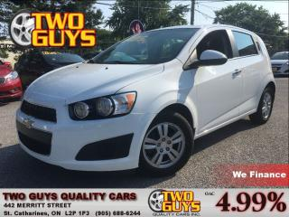 Used 2013 Chevrolet Sonic LT ALLOYS A/C CRUISE CONTROL for sale in St Catharines, ON