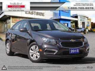 Used 2015 Chevrolet Cruze REMOTE START! ONSTAR NAVI for sale in Markham, ON