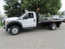 Used 2015 Ford F-550 Cab & Chassis 4x4 Gas with 12 ft flat deck for sale in Richmond Hill, ON