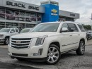 Used 2015 Cadillac Escalade PREMIUM, POWER STEPS, DVD SYSTEM, WHITE ON KONA BROWN for sale in Ottawa, ON