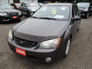 Used 2005 Kia Spectra5 'GREAT VALUE' 5 SPEED MANUAL HATCH MODEL 5 PASSENGER 2.0L - DOHC.. CLOTH.. POWER SUNROOF.. AM/FM/CD PLAYER.. KEYLESS ENTRY.. for sale in Bradford, ON