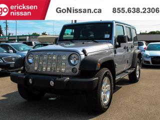 Used 2014 Jeep Wrangler Unlimited Sport, 4WD, Power Windows, Dual Tops, Blue Tooth for sale in Edmonton, AB