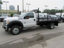 Used 2016 Ford F-550 4x4 diesel with custom 12 ft flat deck for sale in Richmond Hill, ON