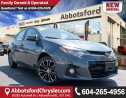 Used 2016 Toyota Corolla S ACCIDENT FREE! for sale in Abbotsford, BC
