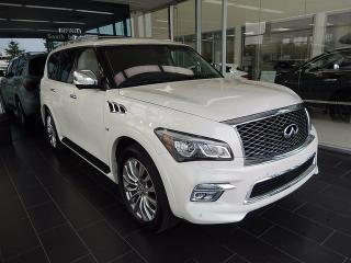 Used 2016 Infiniti QX80 Technology Package, 8 Passenger, Dual DVD Players for sale in Edmonton, AB