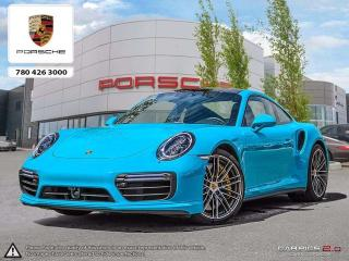 Used 2017 Porsche 911 CERTIFIED PRE-OWNED | HIGH SPEC | Built-in Radar Detector & Camera System | AWD | Miami Blue w/ Porsche Exclusive Yellow Stitch for sale in Edmonton, AB