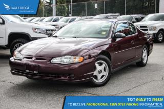 Used 2004 Chevrolet Monte Carlo LS Sunroof and Air Conditioning for sale in Port Coquitlam, BC