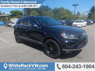 Used 2017 Volkswagen Touareg 3.6L Wolfsburg Edition WOLFSBURG, AWD, REAR VIEW CAMERA & NAVIGATION for sale in Surrey, BC