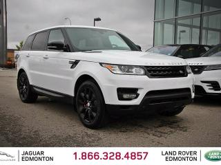 Used 2015 Land Rover Range Rover Sport V8 Supercharged Dynamic - CPO 6yr/160000kms manufacturer warranty included until Jan 22, 2021! CPO rates starting at 2.9%! Local One Owner Trade In | No Accidents | 3M Protection Applied | Navigation | Surround Camera System | Parking Sensors | Park for sale in Edmonton, AB