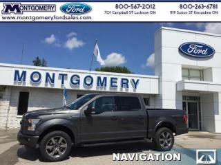 New 2017 Ford F-150 4X4 SUPER CREW-145  - SYNC for sale in Kincardine, ON