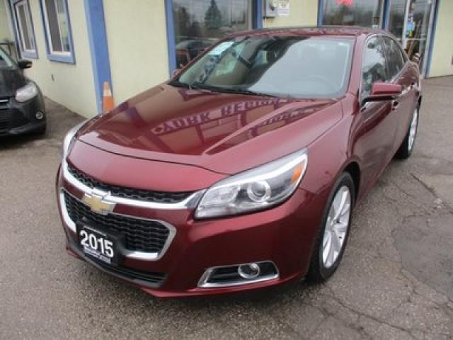 2015 Chevrolet Malibu LOADED LTZ EDITION 5 PASSENGER 2.5L - ECO-TEC.. ECO-PACKAGE.. LEATHER.. HEATED SEATS.. POWER SUNROOF.. BACK-UP CAMERA.. BLUETOOTH SYSTEM..