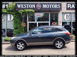 Used 2012 Hyundai Veracruz GLSLIMITED*AWD*7PASS*LEATHER*SUNROOF*ACCIDENT FREE for sale in York, ON