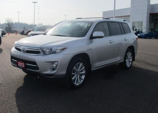 Used 2013 Toyota Highlander Hybrid LIMITED for sale in Renfrew, ON