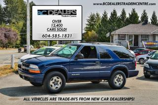 Used 2005 Chevrolet Blazer LS 4X4, Good Km's, Alloy Wheels, Local, Clean! for sale in Surrey, BC