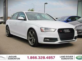 Used 2014 Audi S4 3.0 quattro Technik - Local Alberta Trade In | No Accidents | 333 Horsepower | Heated Leather Seats | Dual Zone Climate Control with AC | Power Sunroof | Navigation | Back Up Camera | Parking Sensors | Memory Seat | 19 Inch Wheels | Bluetooth | Carbon Fib for sale in Edmonton, AB