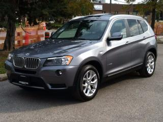 Used 2013 BMW X3 28i X-DRIVE - PANO|PARK ASSIST|1 OWNER|SERVICE REC for sale in Scarborough, ON