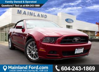 Used 2014 Ford Mustang V6 Premium NO ACCIDENTS, LOW KMS for sale in Surrey, BC