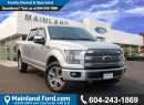 Used 2015 Ford F-150 Platinum LOCAL, for sale in Surrey, BC
