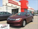 Used 2012 Honda Civic LX, stick shift only 74,000 km for sale in Scarborough, ON