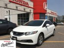 Used 2013 Honda Civic LX, 4 new tires and new front brakes for sale in Scarborough, ON