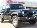 Used 2015 Jeep Wrangler Unlimited RUBICON 4x4, HEATED SEATS, LEATHER, AXLE LOCK, BLUETOOTH, CRUISE CONTROL, AUX / USB for sale in Edmonton, AB