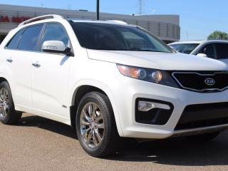 Used 2012 Kia Sorento SX V6, HEATED SEATS, BACKUP CAM, NAVI, DUAL SUNROOF, LEATHER, USB / AUX for sale in Edmonton, AB