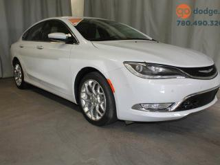 Used 2015 Chrysler 200 C AWD / GPS Navigation / Rear Back Up Camera / Heated Front Seats and Steering Wheel for sale in Edmonton, AB