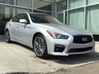 Used 2014 Infiniti Q50 TECH SPORT/HEATED SEATS/NAVIGATION/LANE DEPARTURE/BLIND SPOT/AROUND VIEW MONITOR for sale in Edmonton, AB