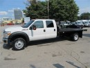 Used 2014 Ford F-550 Crew Cab 4x4 gas Chassis with 12 foot flat deck for sale in Richmond Hill, ON