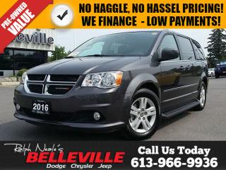 Used 2016 Dodge Grand Caravan Crew - Power Doors - Heated Seats - NAV - Back UP for sale in Belleville, ON
