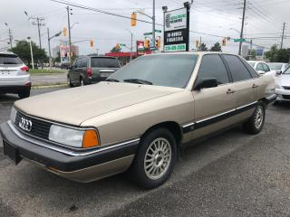 Used 1986 Audi 5000 Quattro CD - RARE - LOW KM for sale in Waterloo, ON