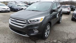New 2017 Ford Escape Titanium, AWD, 245hp, Lthr, Nav for sale in Stratford, ON