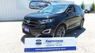 Used 2016 Ford Edge Sport, AWD, Leather, Navi, 2.7l 315HP for sale in Stratford, ON