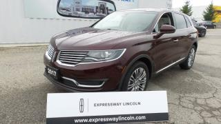 New 2017 Lincoln MKX Reserve for sale in Stratford, ON