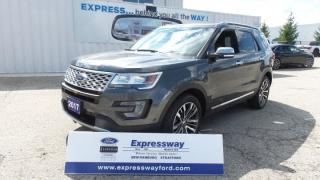 Used 2017 Ford Explorer Platinum AWD 3.5l Eco LOADED for sale in Stratford, ON