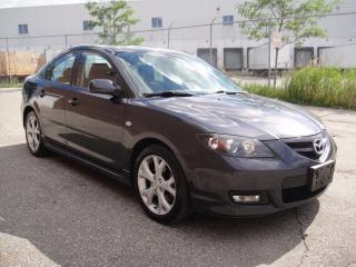 Used 2007 Mazda MAZDA3 GT SPORT-LOADED,LEATHER,SUNROOF,ALL PWR for sale in North York, ON