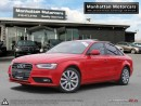 Used 2013 Audi A4 2.0T QUATTRO PREMIUM PKG-LEATHER|ROOF|ALLOY|1OWNER for sale in Scarborough, ON