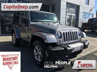Used 2015 Jeep Wrangler Sahara| Cloth| Manual| Seats 4| Low KM| AM/FM for sale in Edmonton, AB