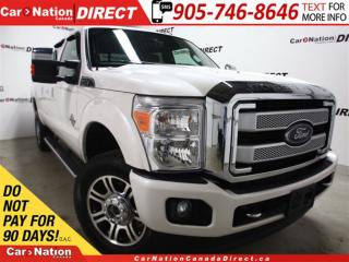 Used 2016 Ford F-350 Platinum| SUNROOF| NAVI| LEATHER| DIESEL| for sale in Burlington, ON